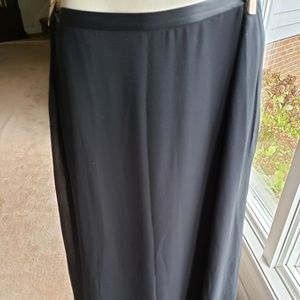 Valerie Stevens Silk Black Skirt